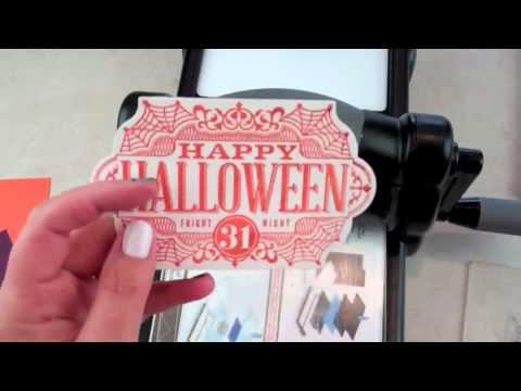 Tuesday VIDEO Tutorial!  Quick Halloween Card using the Big Shot – Episode 410