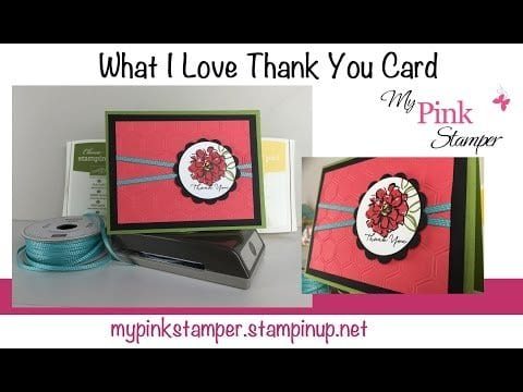 What I Love Thank You Card Video