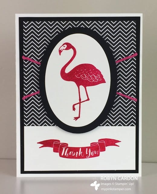 Day 10 of A Card a Day in May – Flamingo Card, Giveaway, & Winner!