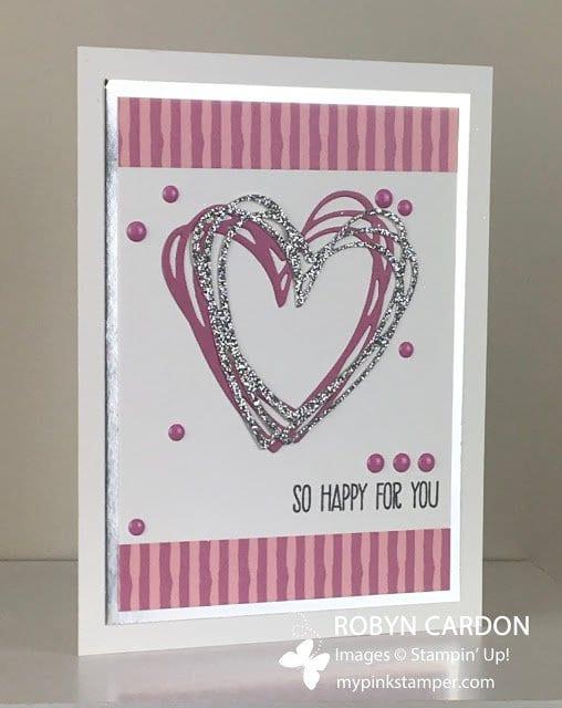 Stampin' Up! Sunshine Sayings Sweet Sugarplum & Silver Card!