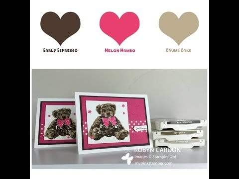 Stampin' Up! Baby Bear Watercolor Card! – Episode 494 (Tuesday VIDEO Tutorial!)