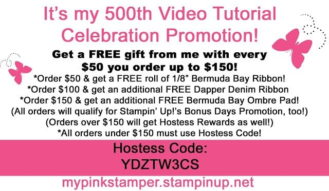 It's my 500th Video Tutorial Promotion!!!