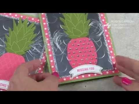 Stampin' Up! Pineapple & Thoughtful Banners Video Tutorial Bling Card – Episode 502