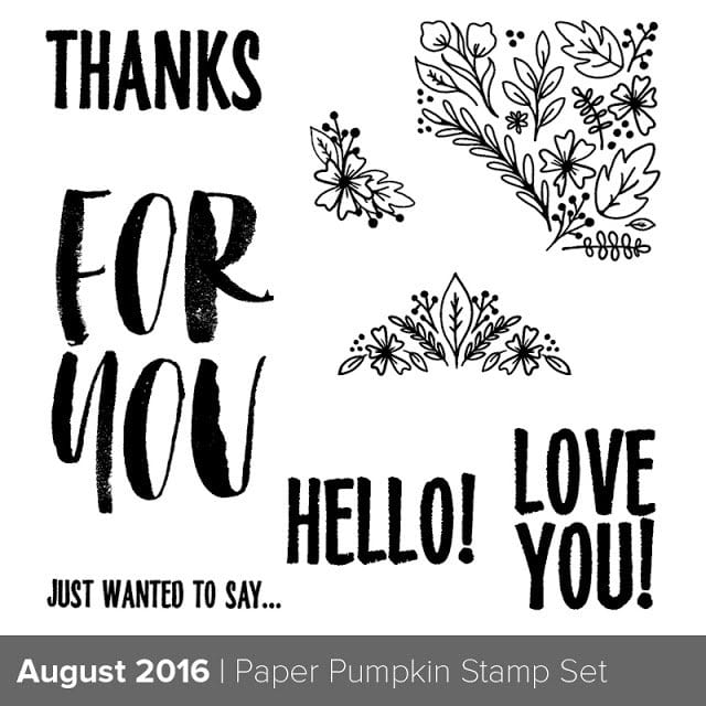 August Paper Pumpkin Sneak Peek & Going on Vacation!