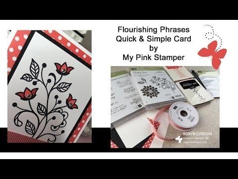 Flourishing Phrases Simple Card Video Tutorial – Episode 505