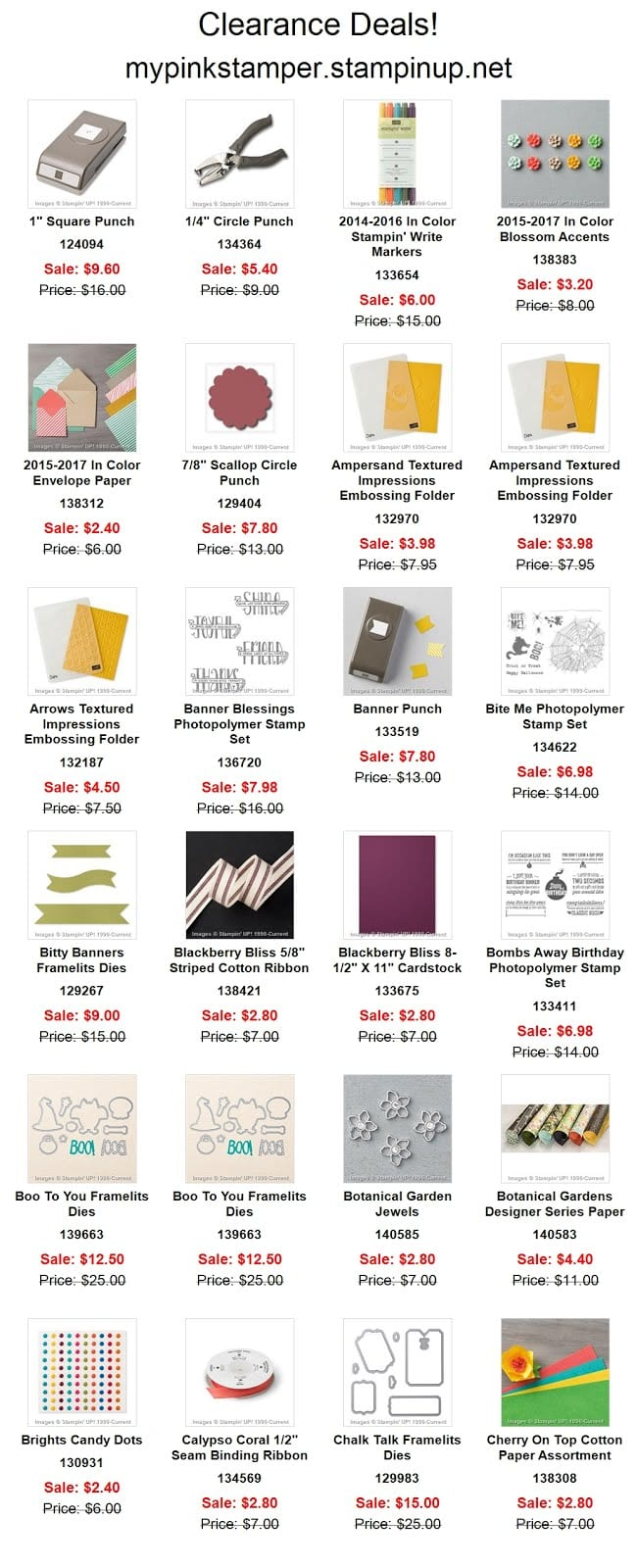 Stampin' Up! Clearance Specials ROCK!!!
