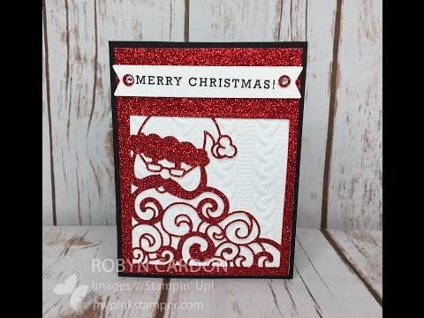 Stampin' Up! Detailed Santa Glimmer Card Video Tutorial!  – Episode 514