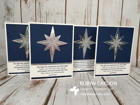 Easy Stampin' Up! Star of Light Christmas Card Video Tutorial – Episode 513