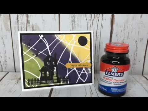 How to do the Rubber Cement Technique Video Tutorial with Stampin' Up! Spooky Fun!