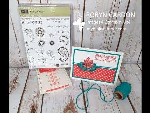 Blog-Tober Day 4 Giveaway & Paisleys & Posies Video Tutorial!
