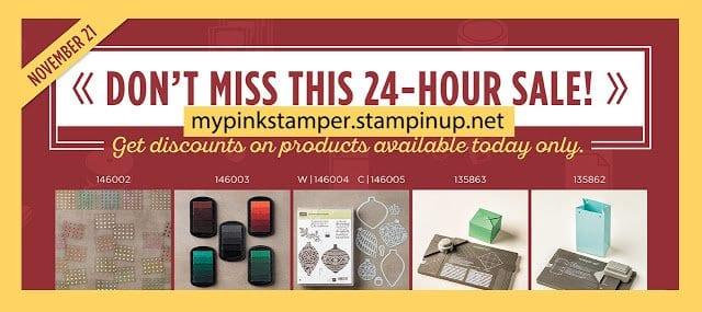 Stampin' Up!'s Online Extravagana Starts Midnight, November 21st!!!