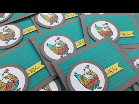 Episode 530 – Stampin' Up! Hey, Chick Watercolor Cards Video Tutorial!