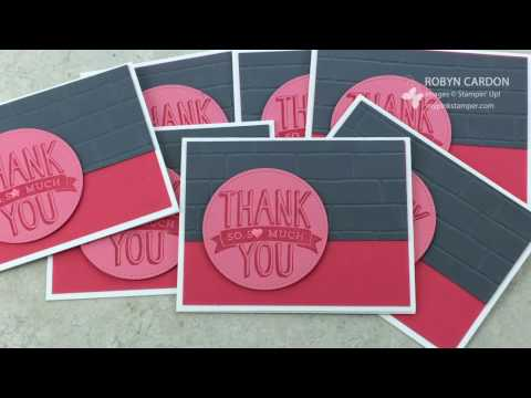 Stampin' Up! Scenic Sayings Simple Thank You Card VIDEO Tutorial!