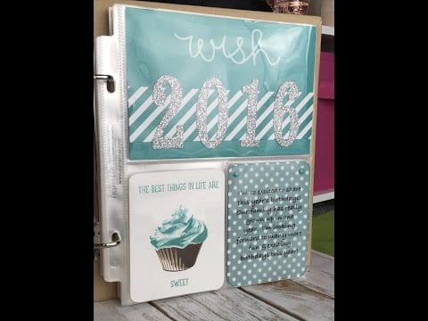 Stampin' Up! Project Life Simple Birthday Title Page Video Tutorial!  Episode 526