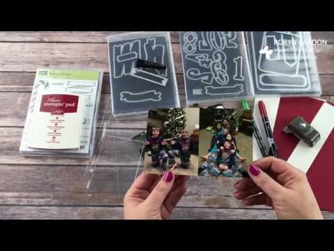 12 Days of Christmas – Day 2 – Project Live Scrapbook Layout with Stampin' Up! Banners for Christmas