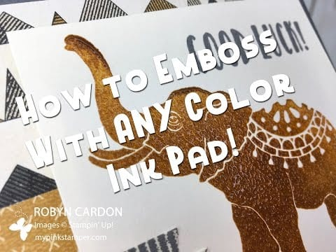 Stampin' Up! Lucky Elephant Video Tutorial and NEW Special from me!!