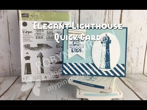 Stampin' Up! High Tide Masculine Card Video Tutorial – Episode 556