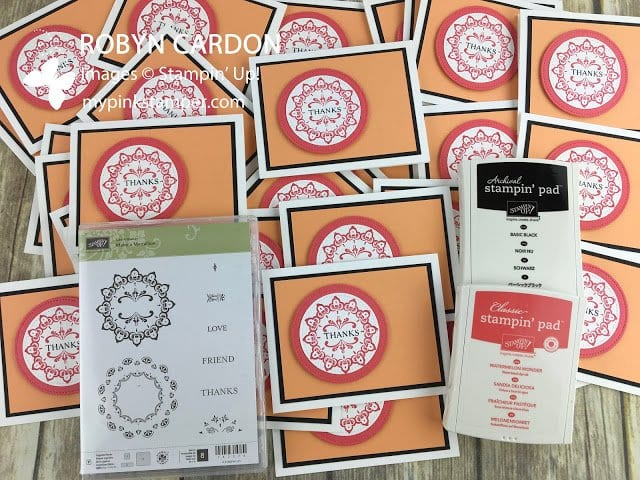 Stampin' Up! Make a Medallion Thank You Cards & a New Puppy!