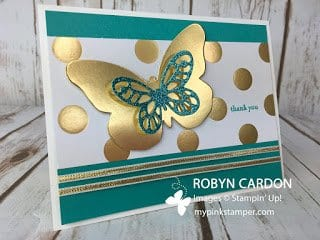 Customer Thank You Cards with Bold Butterflies Framelits!