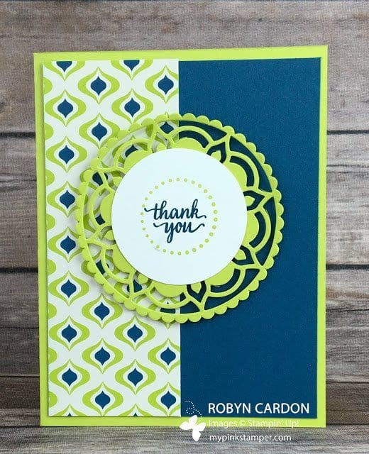 Stampin' Up! Eastern Palace Lemon Lime Twist Card Tutorial!  So SUPER cute!