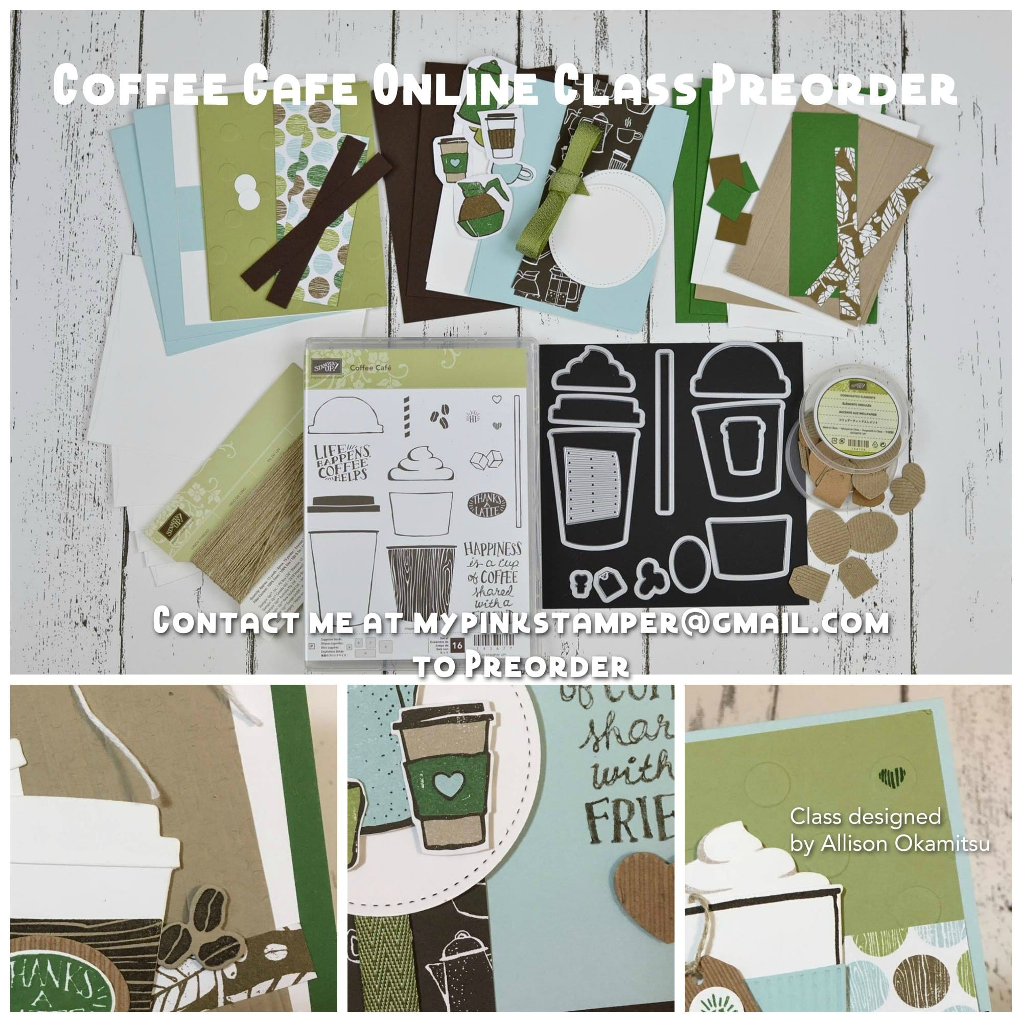 Coffee Cafe Online Class Preorder