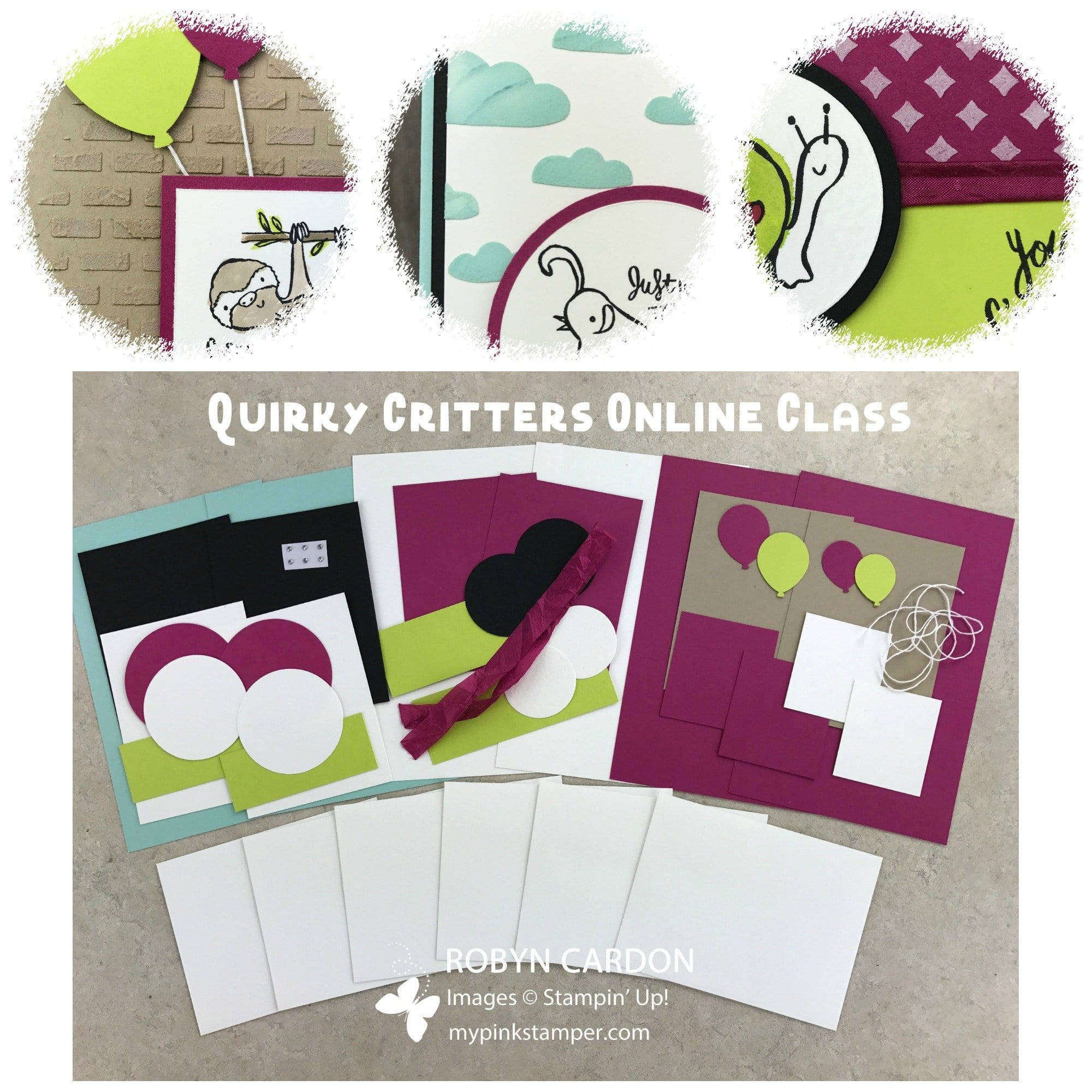 Quirky Critters Embossing Paste Online Class!