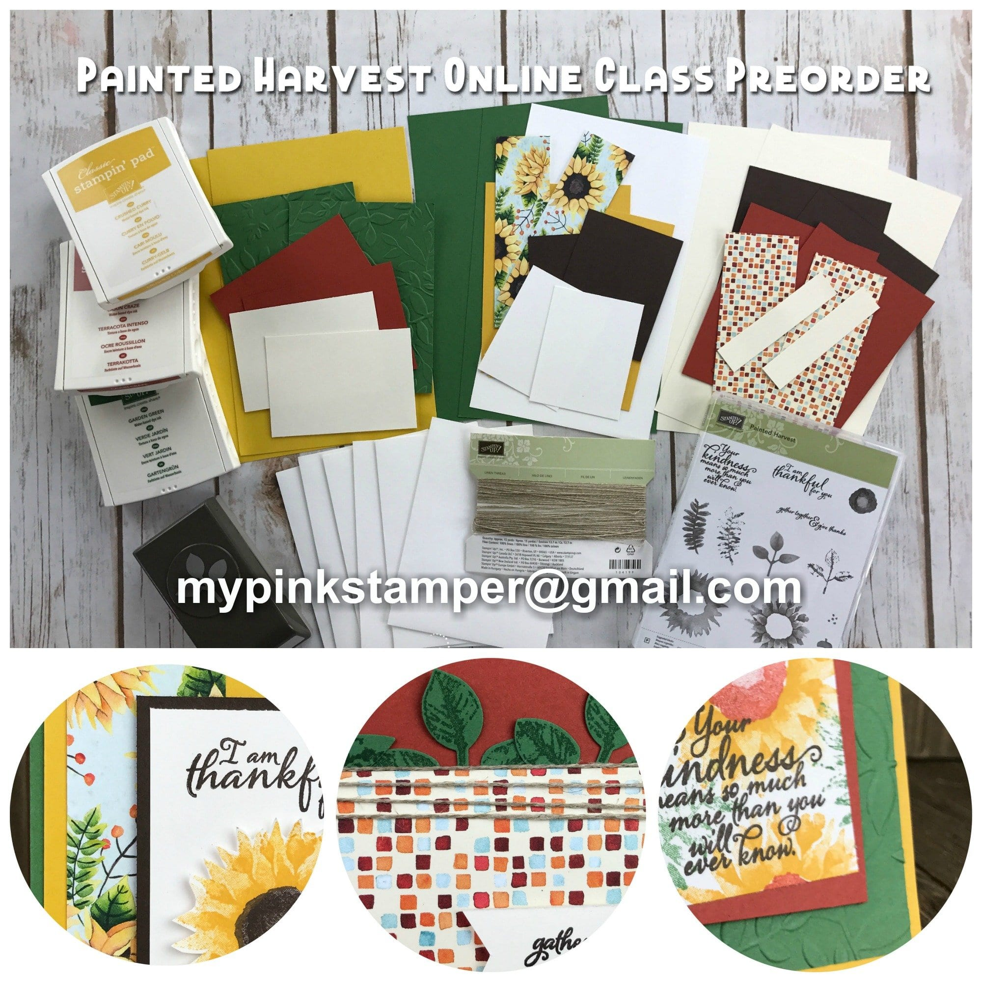 Stampin' Up! Painted Harvest Online Class Preorder!