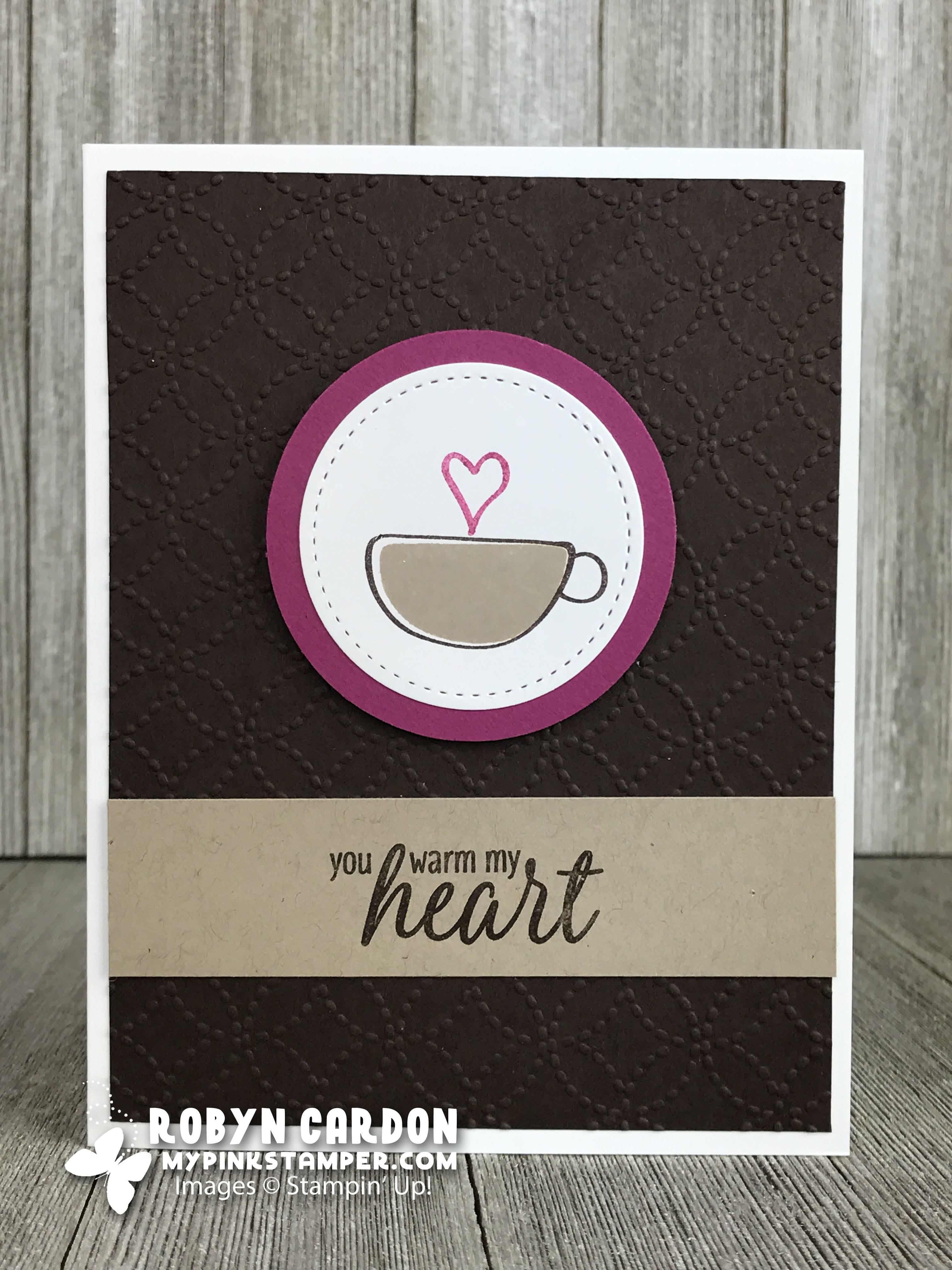 "Hug in a Mug ""You Warm My Heart"" Card"