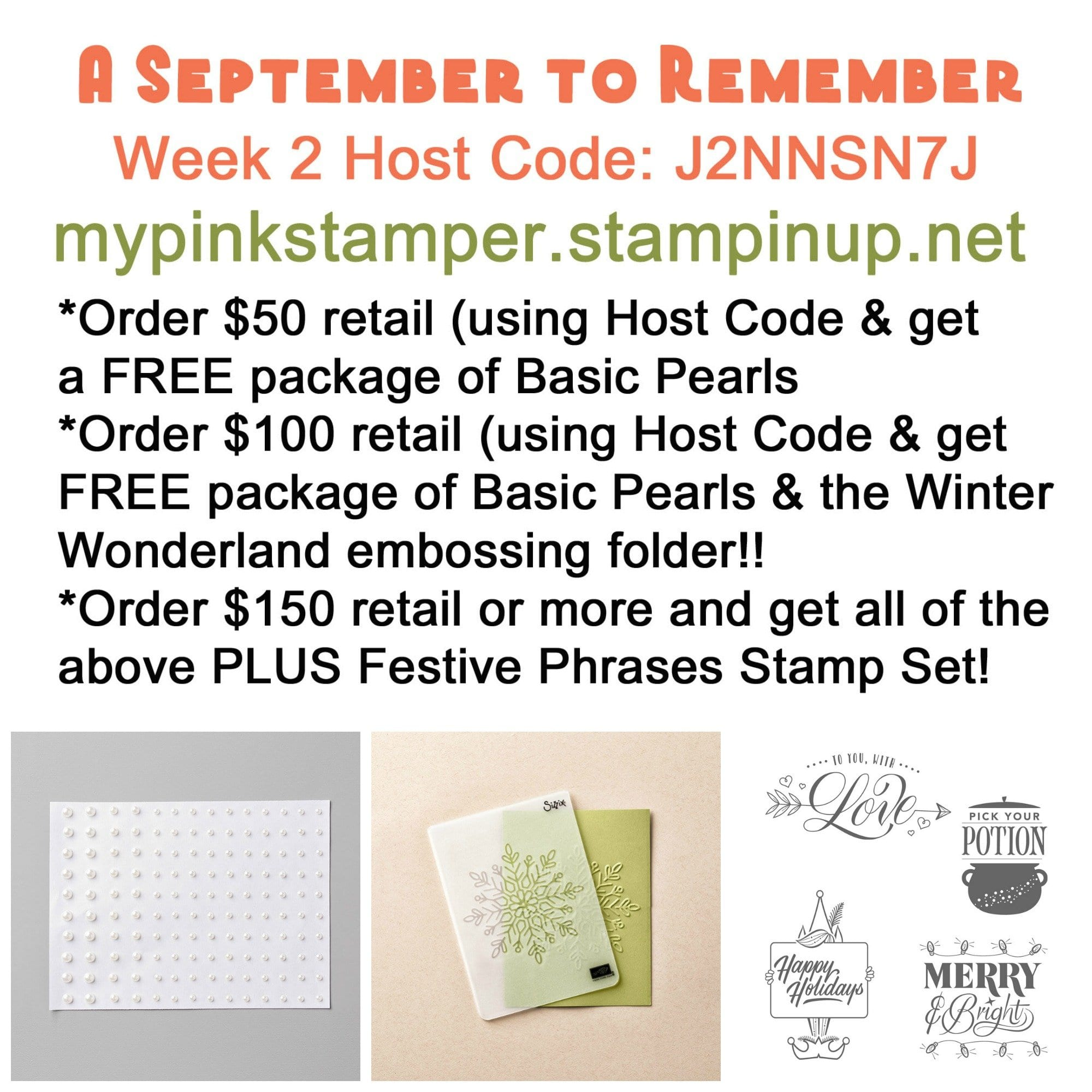 Week 2 – A September to Remember Promotion!