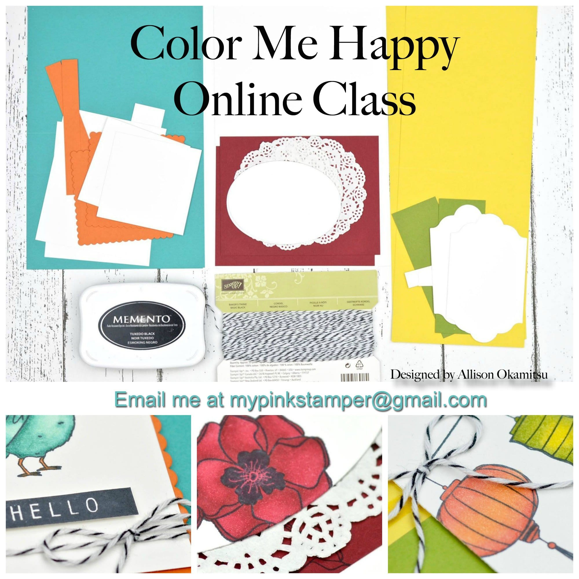 Color Me Happy – Stampin' Blends Online Class!