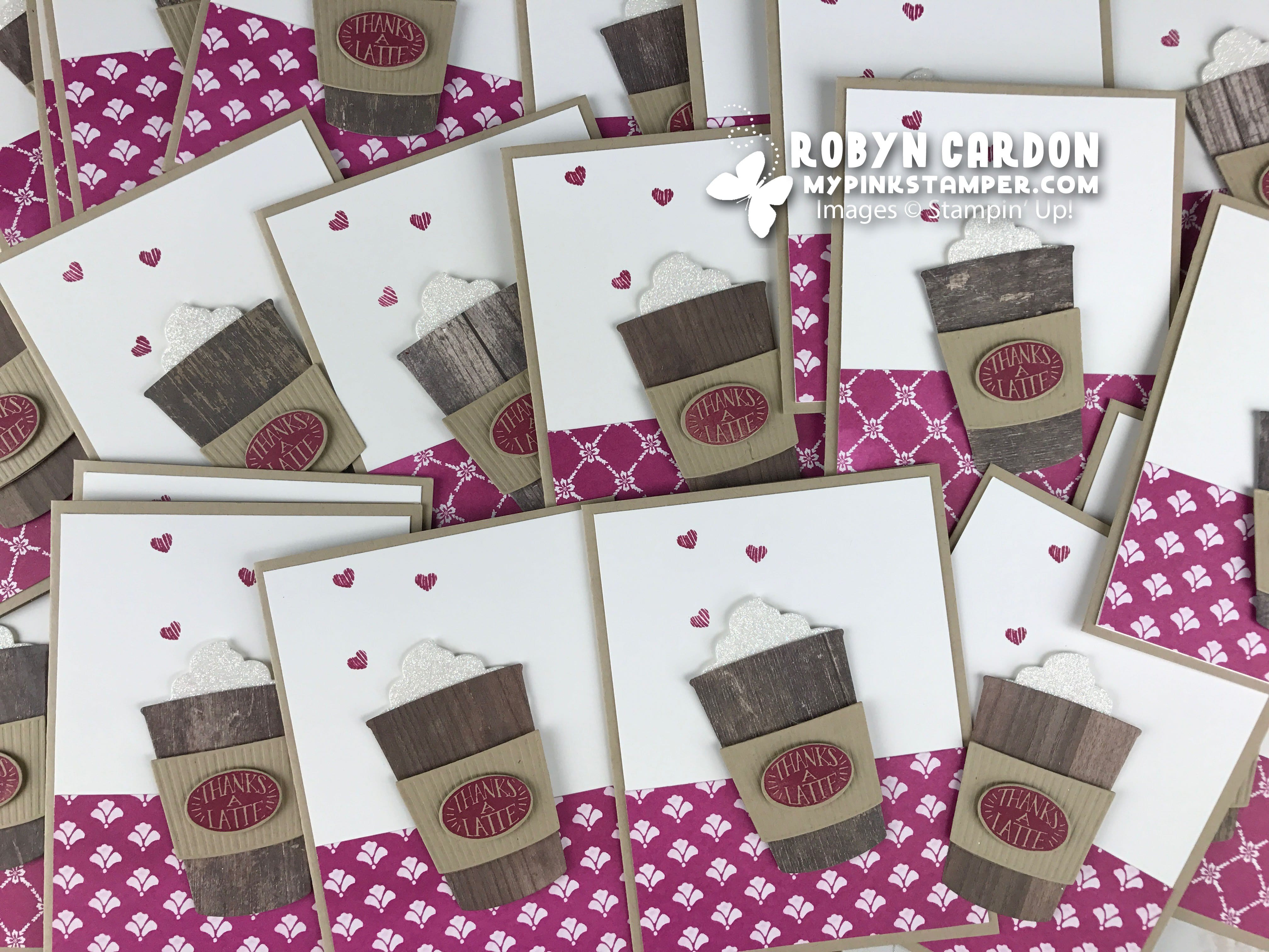 The CUTEST Coffee Cafe PINK Card!