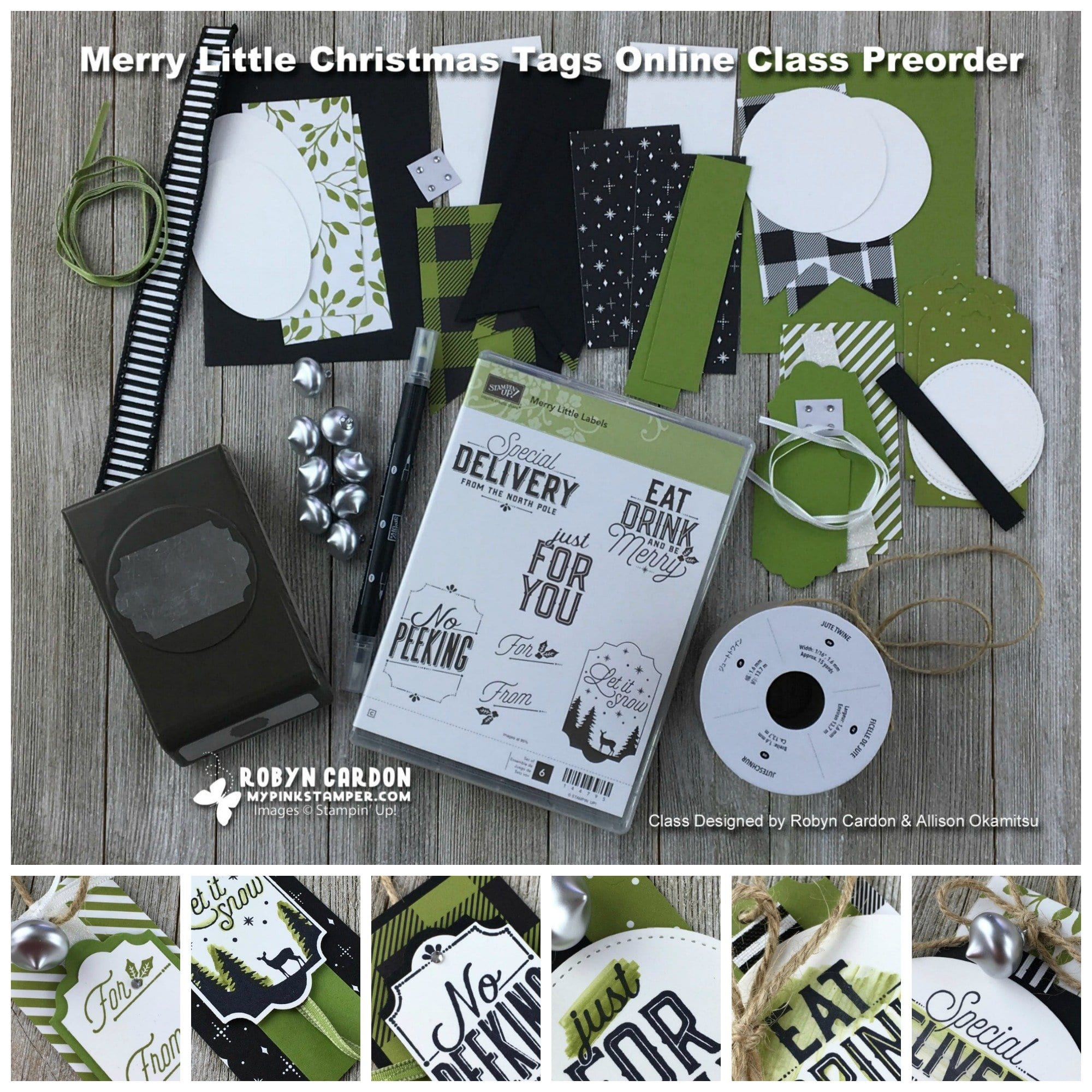 Merry Little Christmas Tags Online Class Preorder