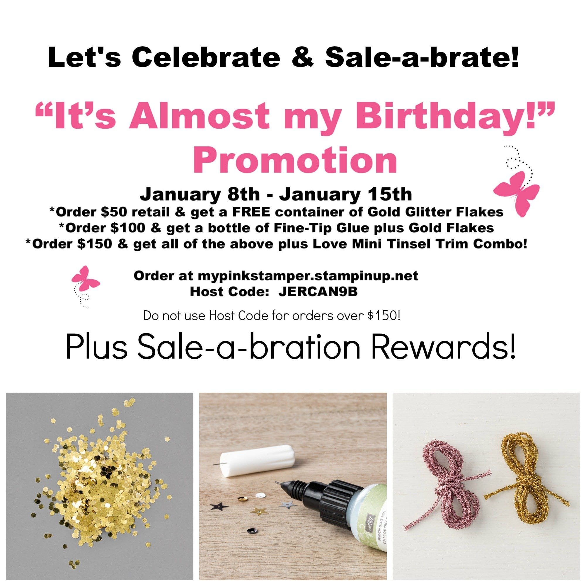 """It's Almost My Birthday"" Promotion!"
