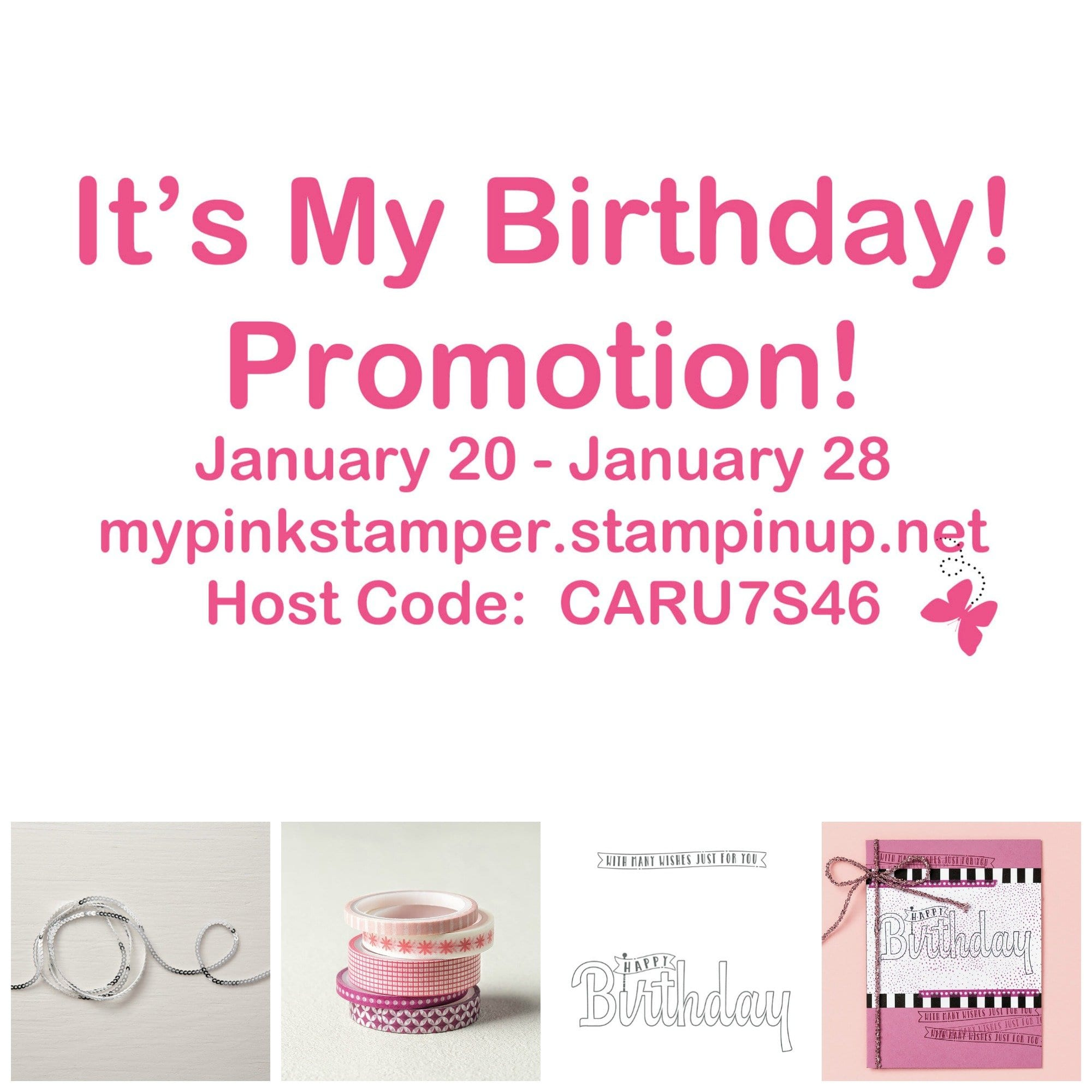 """It's My Birthday!"" Promotion & My Pink Candy!"