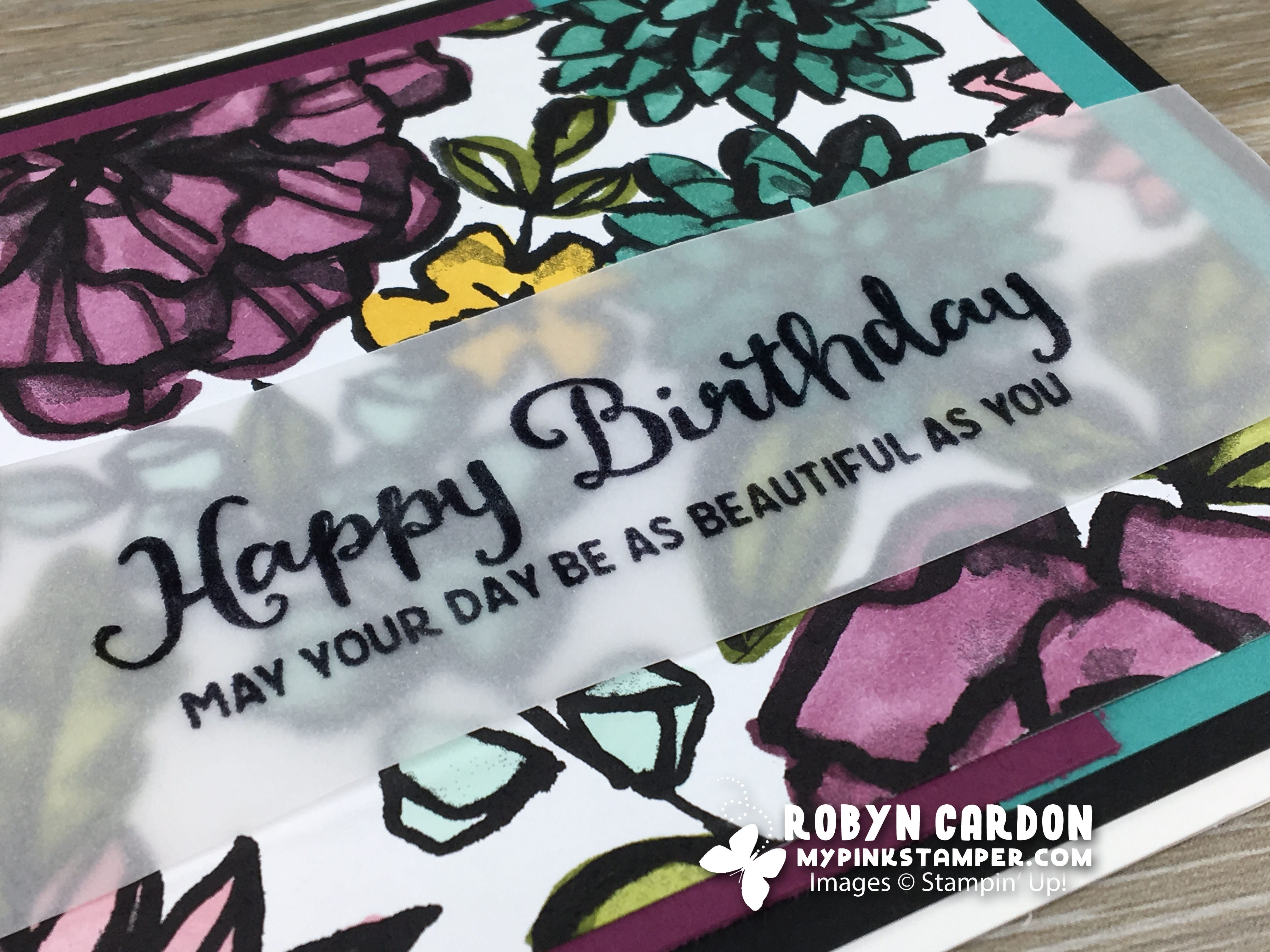 Episode 625 – Petal Passion Stampin' Blends Background Card VIDEO