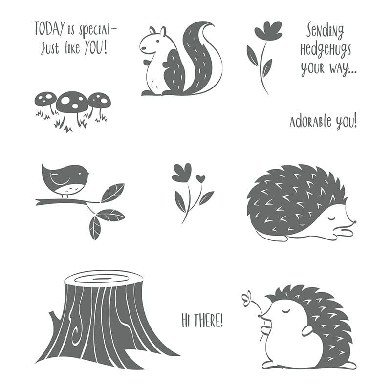 stampin' up hedgehugs