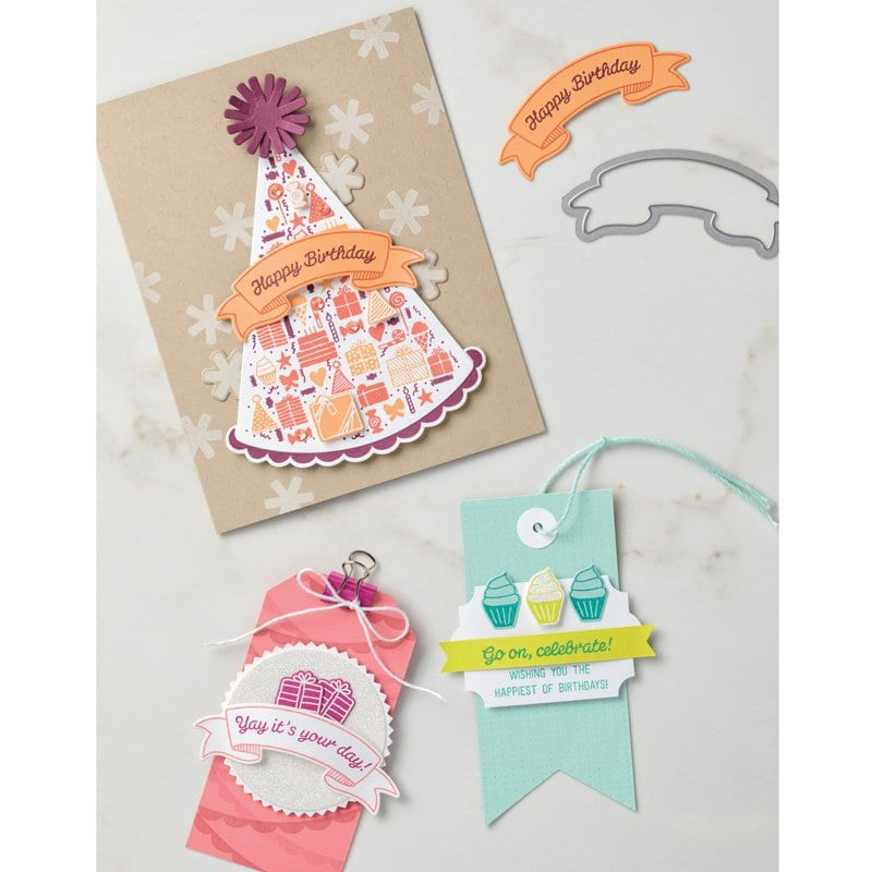 Stampin' Up! Party Hat & a Birthday in our house!