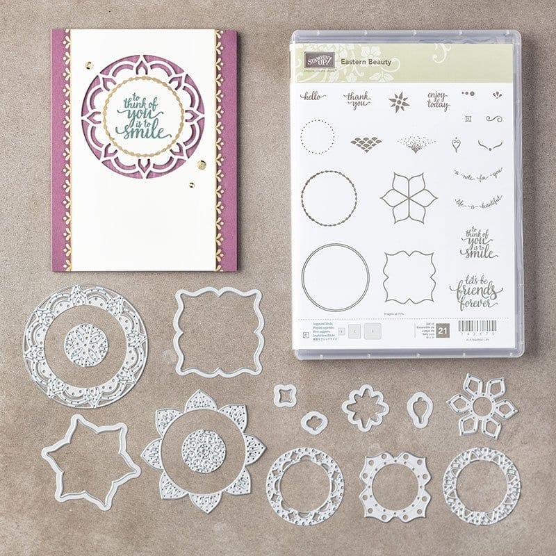Stampin' Up! Eastern Medallion Bundle Giveaway and My Pink Candy Winner of Big Shot!
