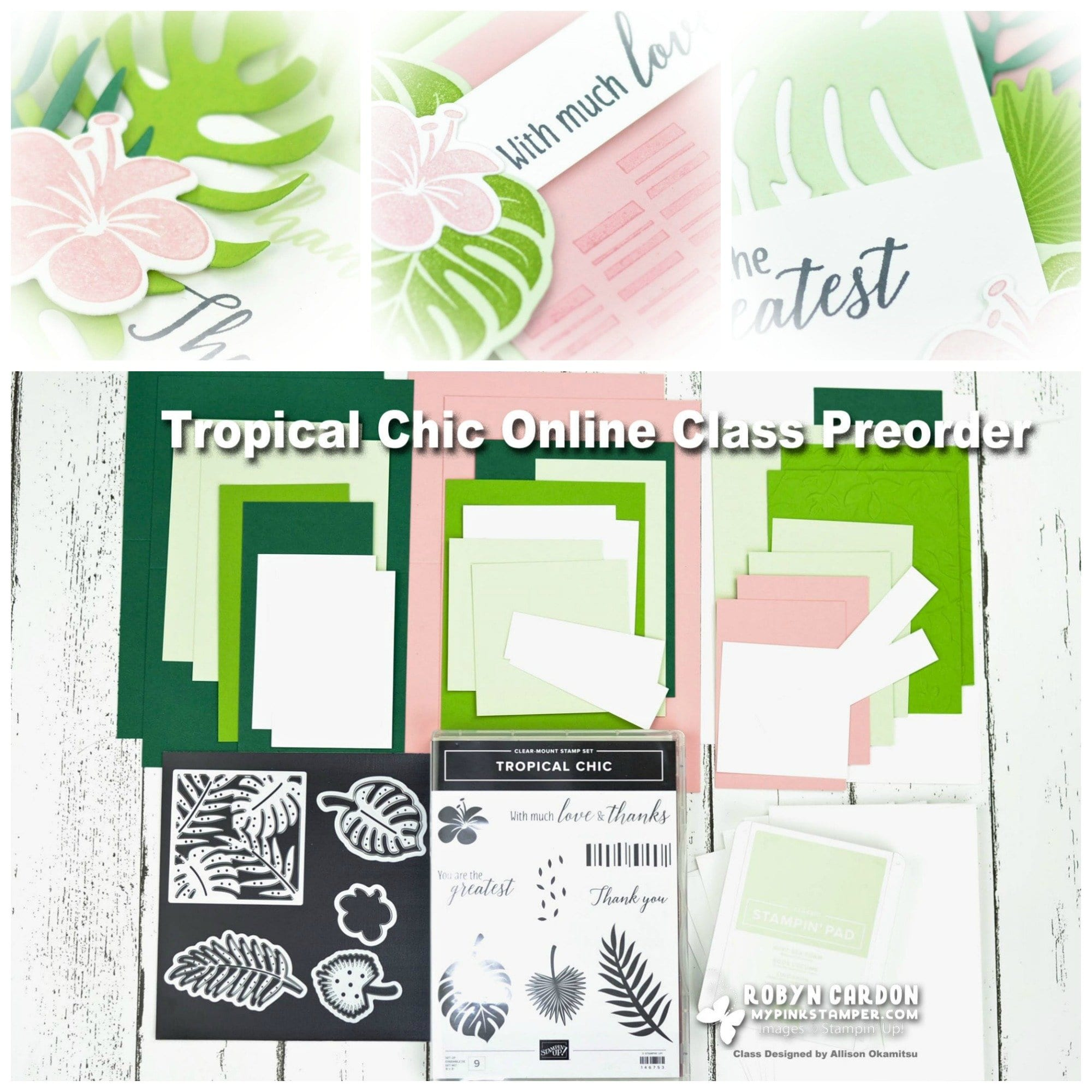 {NEW CLASS}Tropical Chic Online Class Preorder