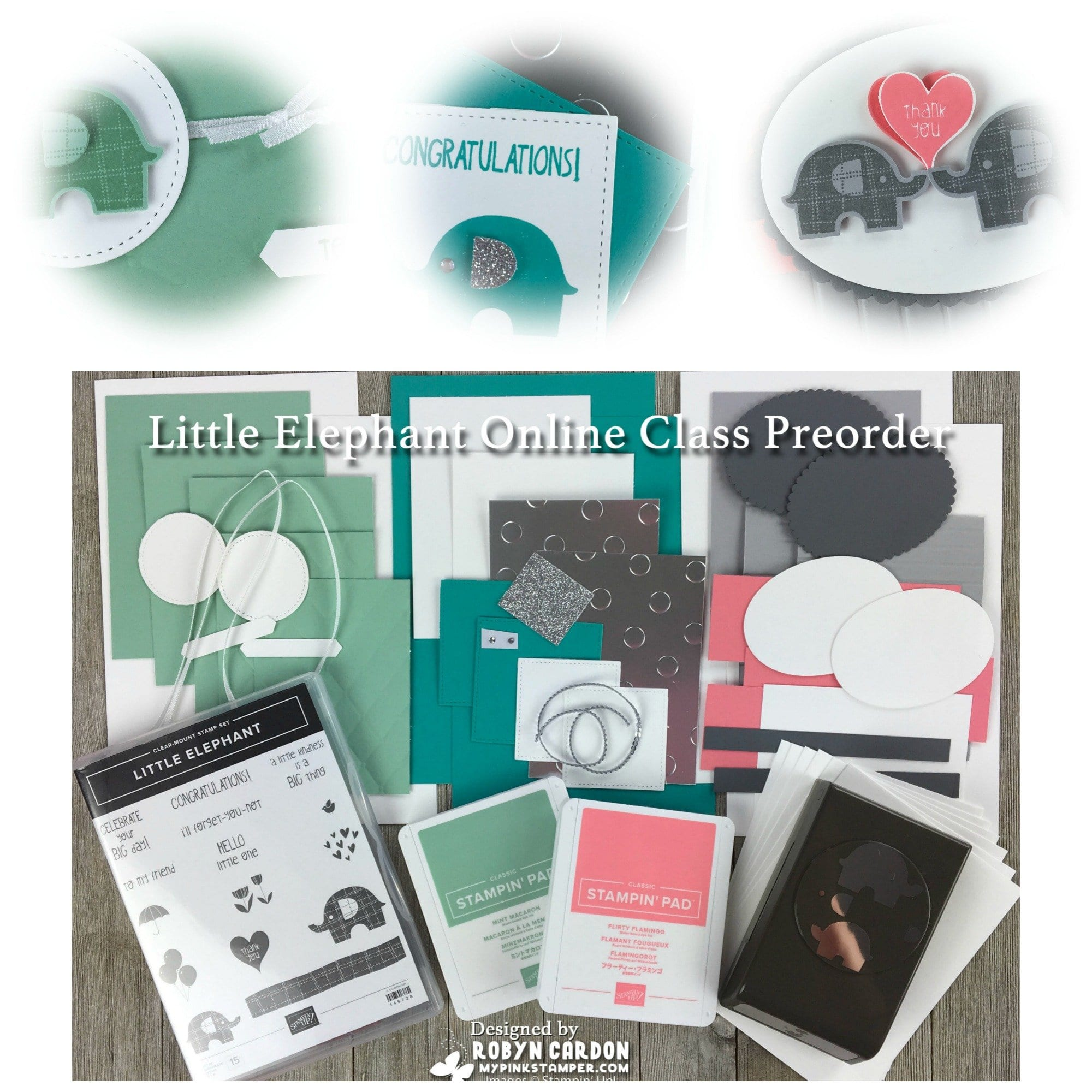 Stampin' Up! Little Elephant Online Class Preorder