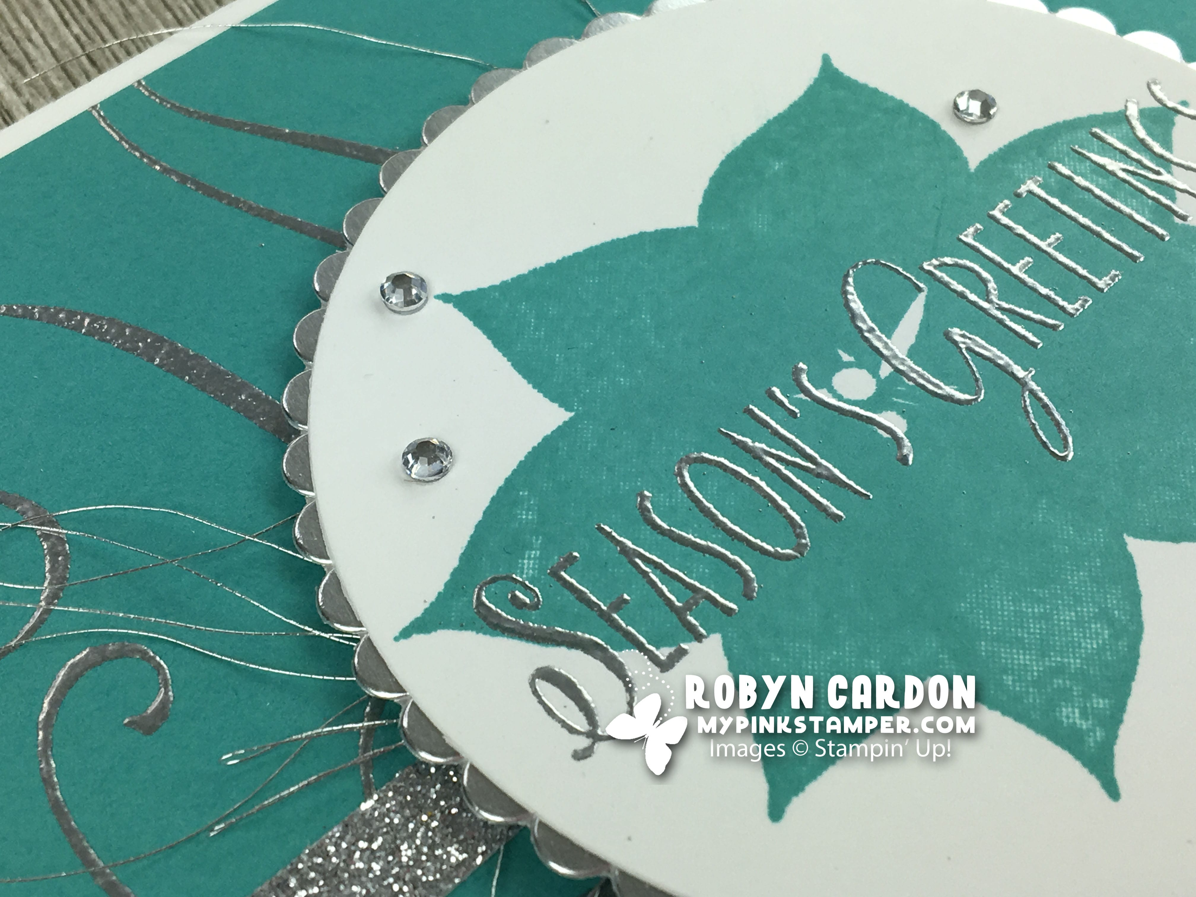 Episode 651 – Stampin' Up! Stylish Christmas Heat Embossed Card