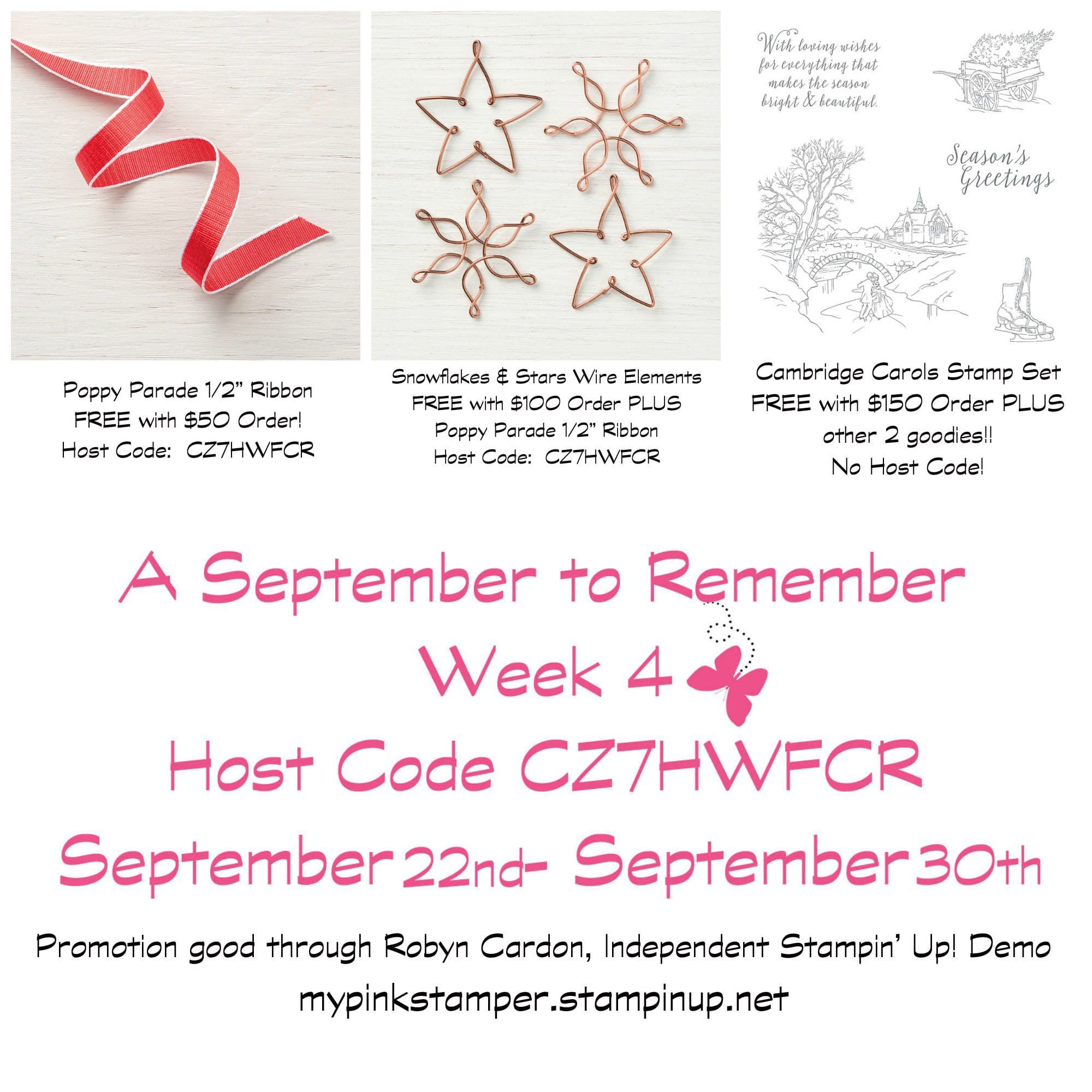 Week 4 – A September to Remember & My Pink Candy Giveaway & Winner!
