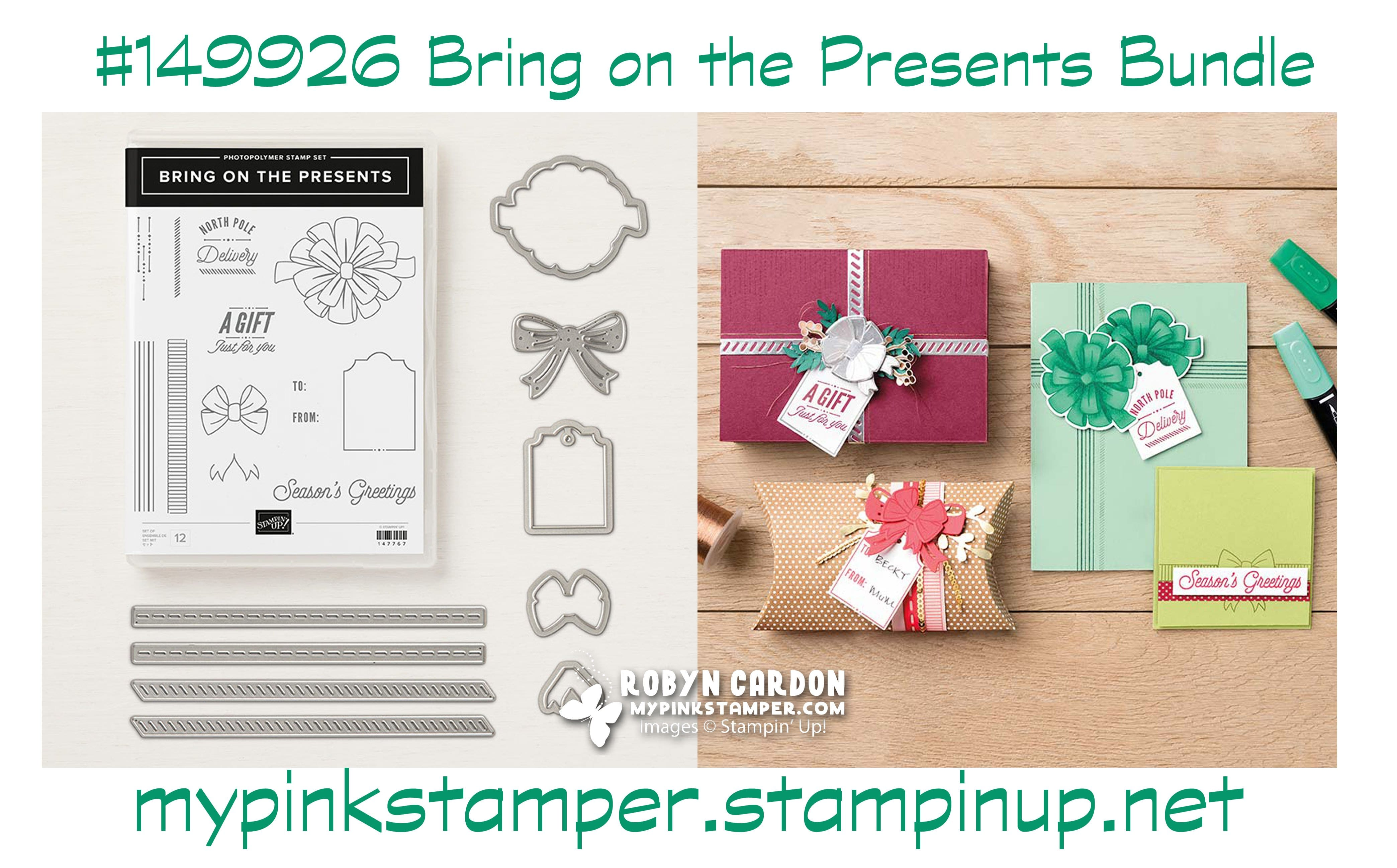 Blog-tober Day 7 Giveaway & Winners!  Spotlight on Stampin' Up! Bring on the Presents Bundle