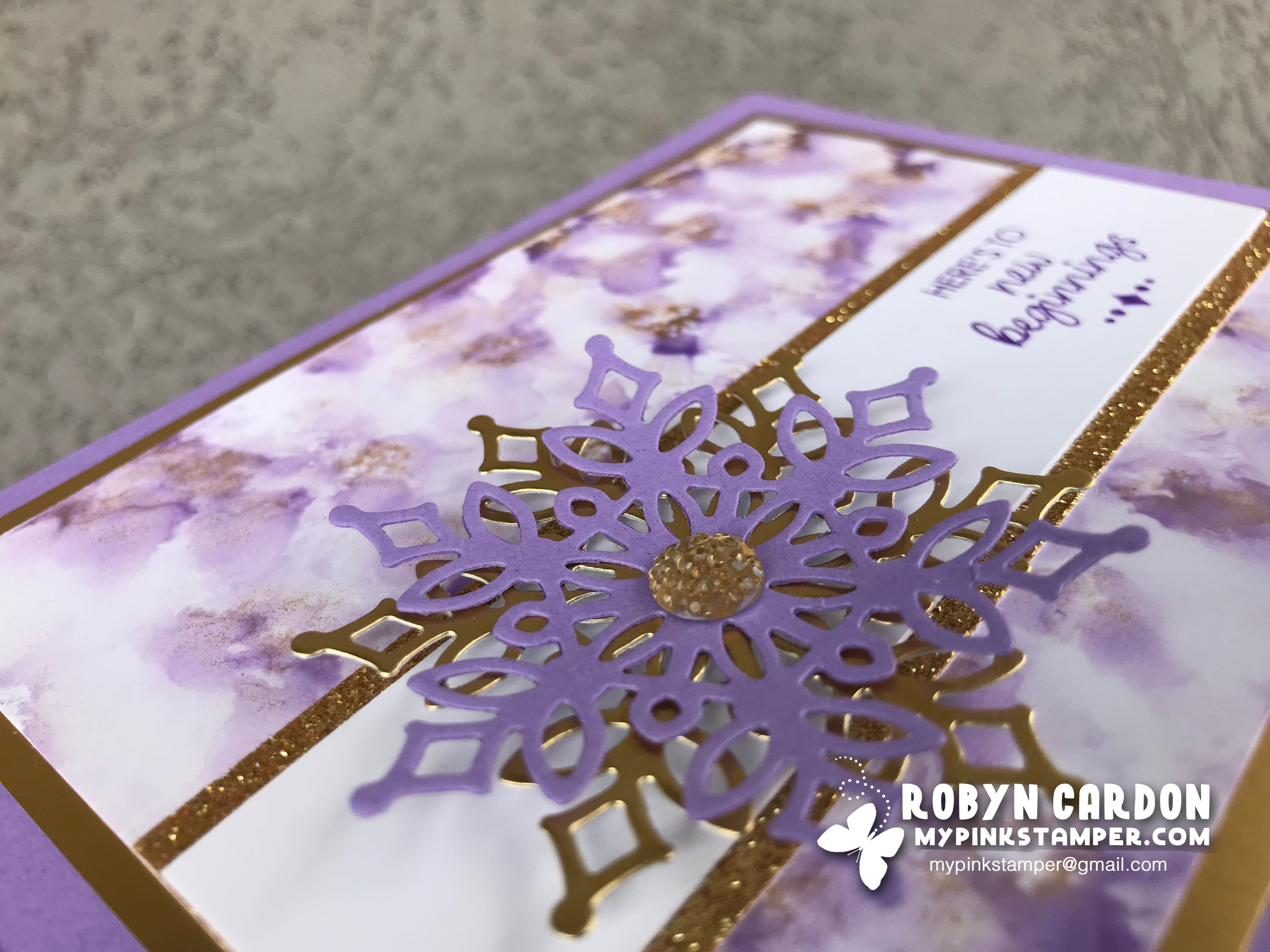 Episode 667 – Marble Background Technique with Stampin' Up! Happiness Surrounds!