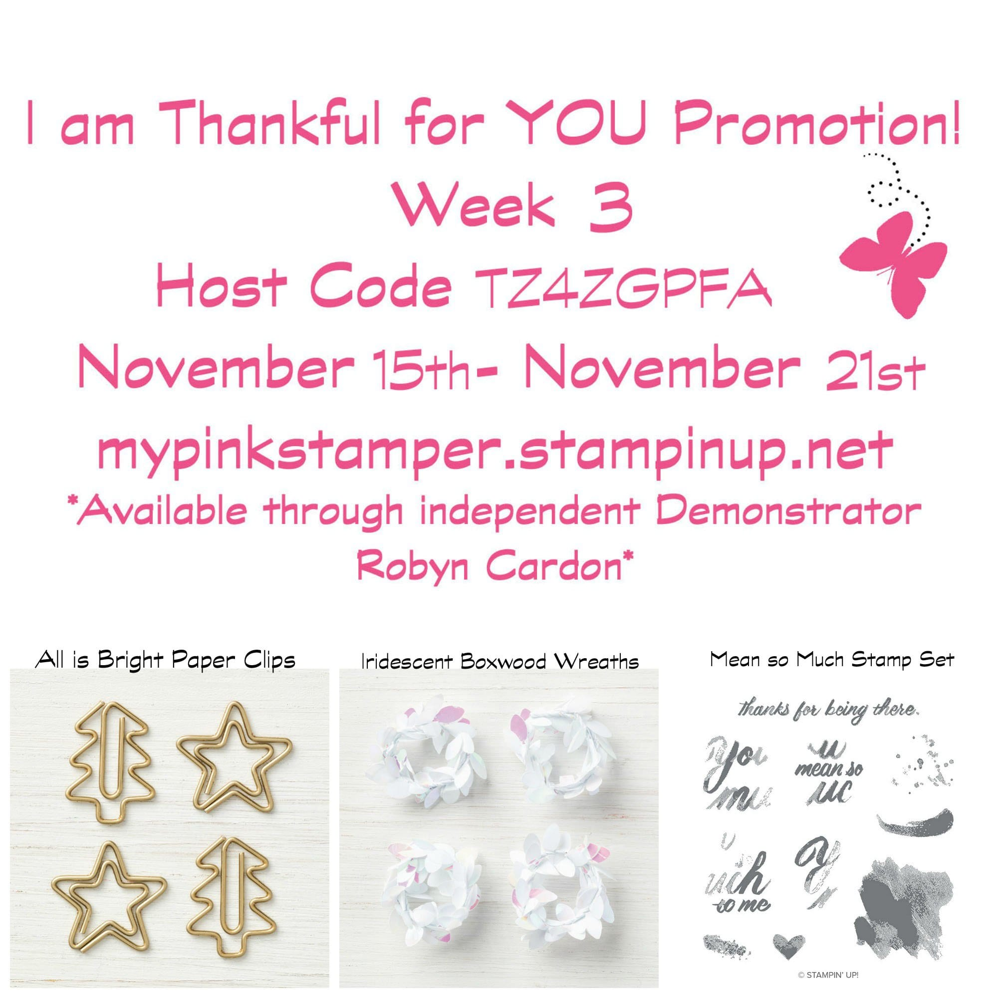 Week 3 of I am Thankful for You Promotion with Giveaway & Winners!
