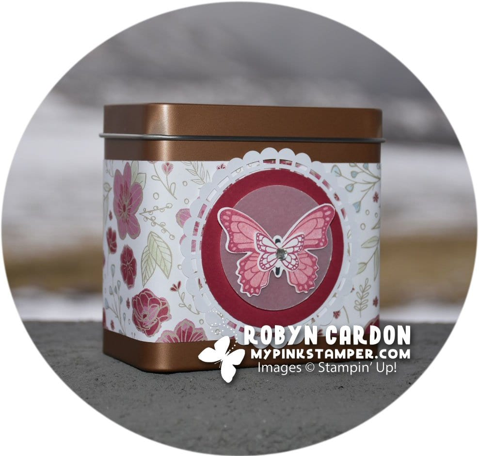 Day 6 – 12 Days of Christmas Giveaway & Stampin' Up! Butterfly Gala Gift Tin!