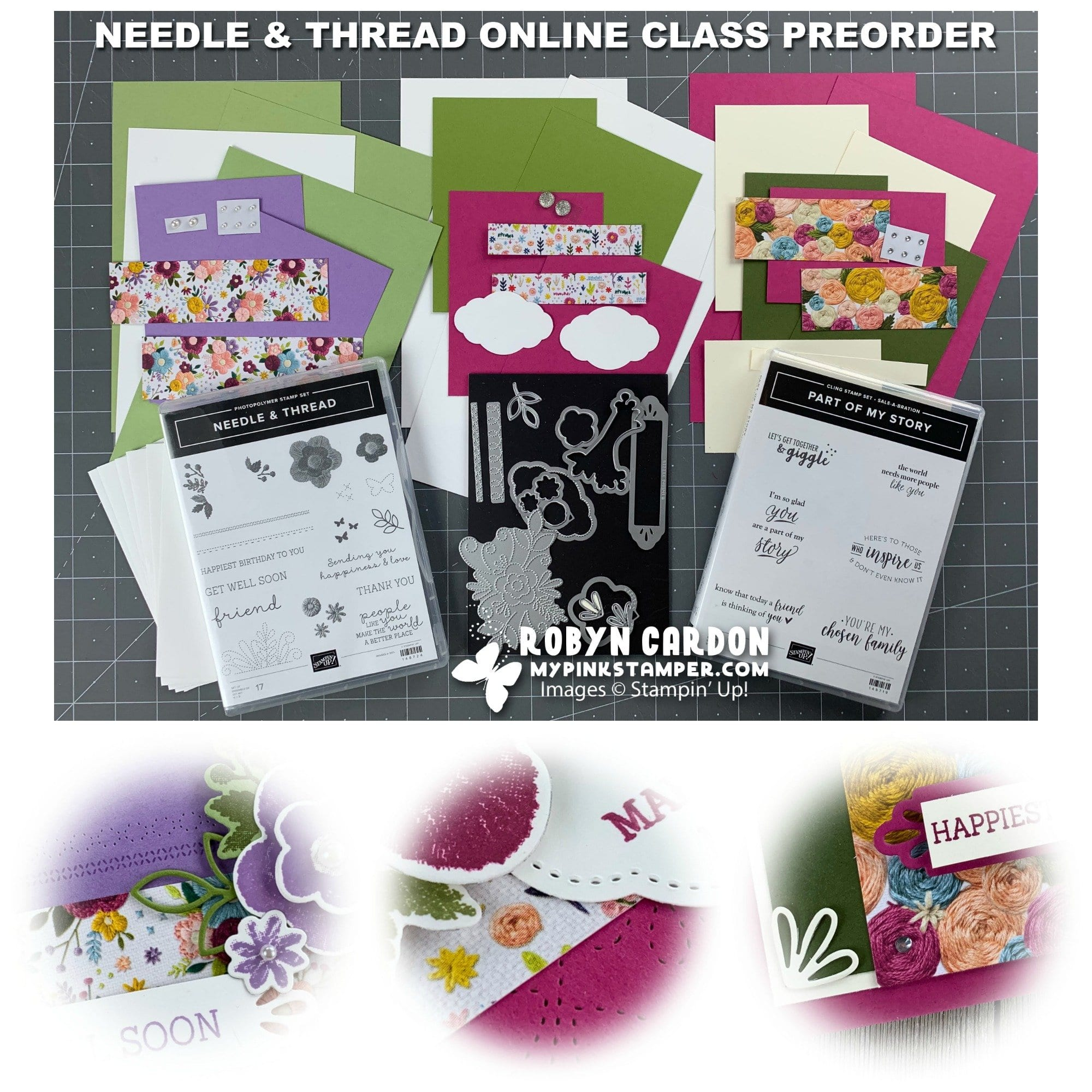 Needle & Thread Online Class Preorder & My Pink Candy Giveaway w/ Winner