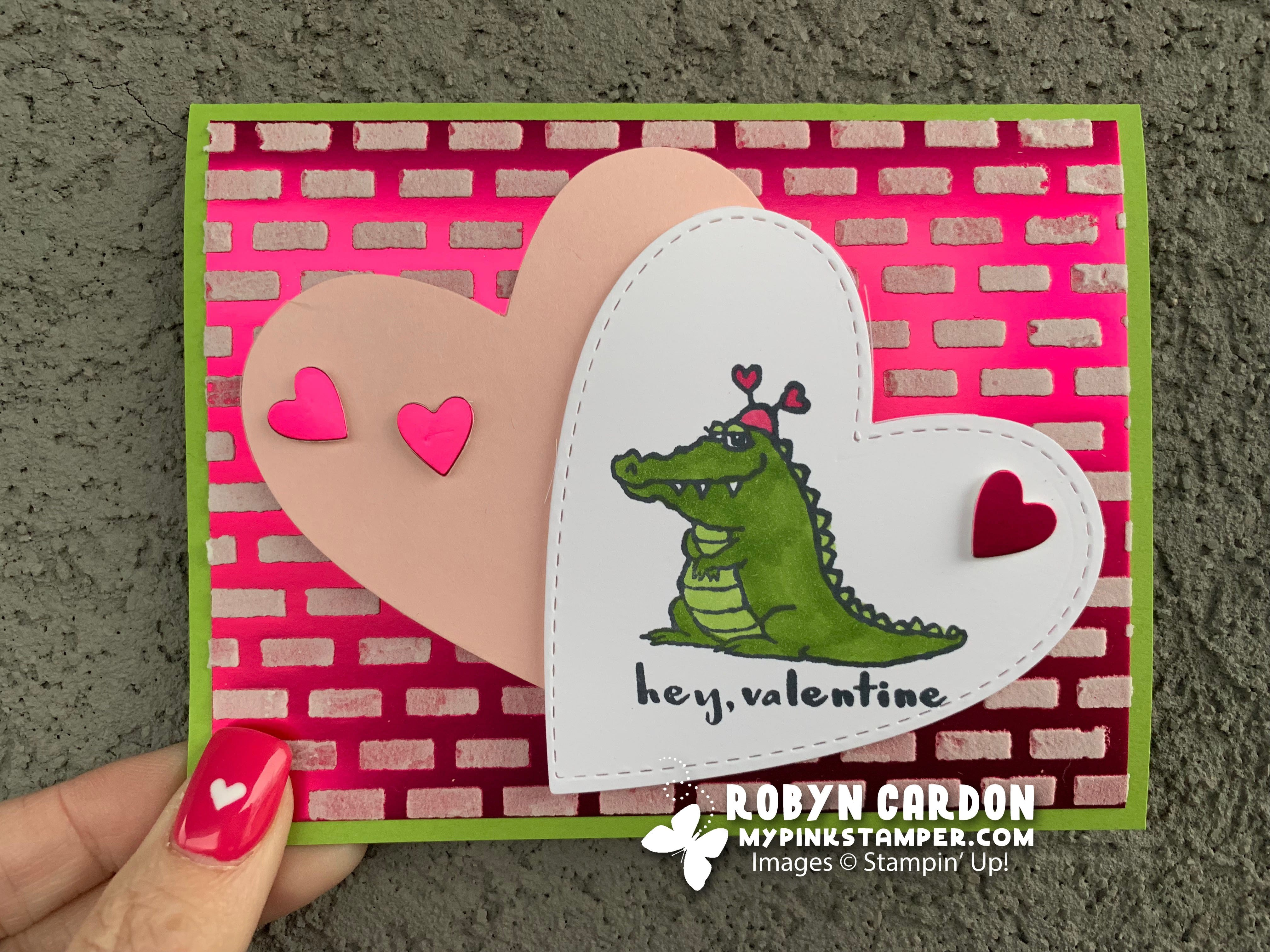 Episode 680 – Stampin' Up! Hey Love Embossing Paste Card