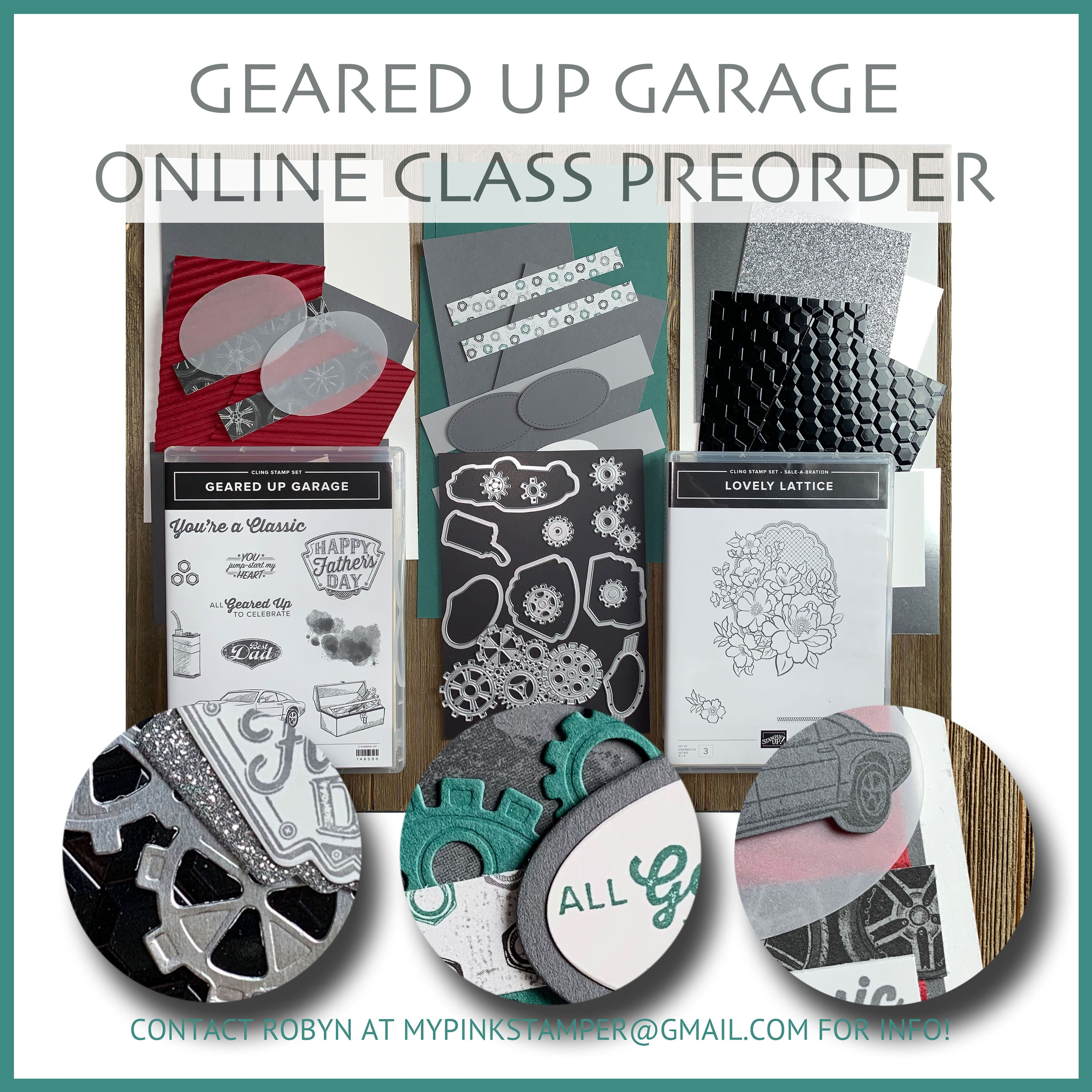 Stampin' Up! Geared Up Garage Online Class Preorder