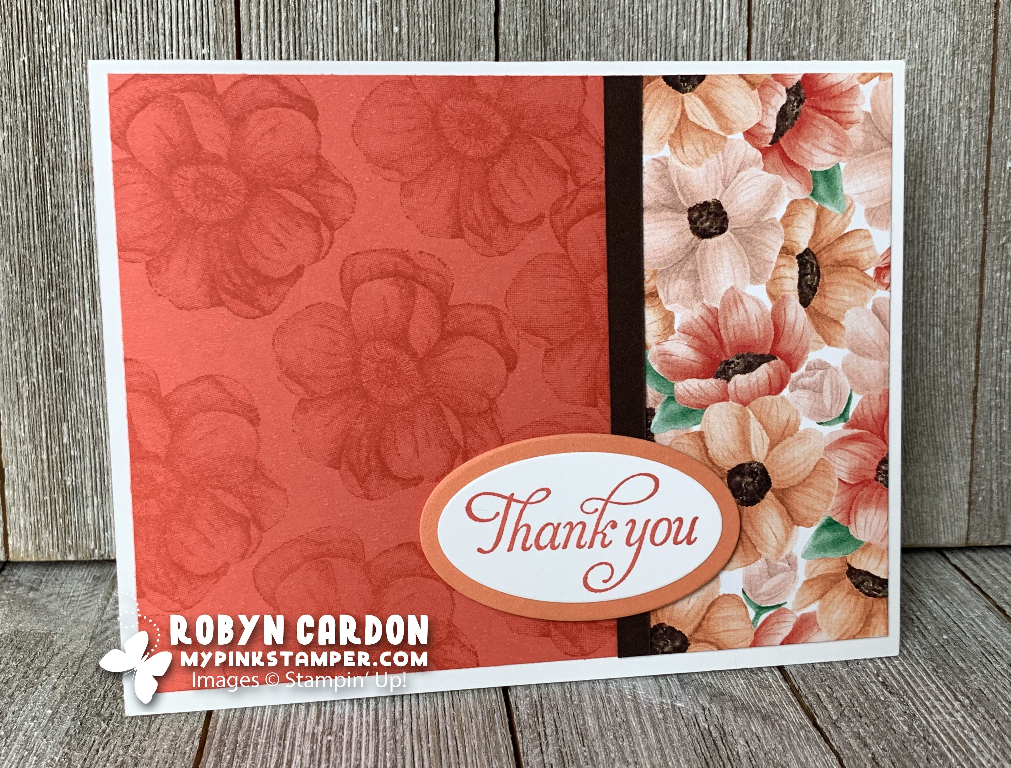 Stampin' Up! Blended Seasons Thank You Card